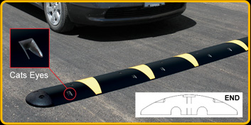 Solid Rubber Speed Bump
