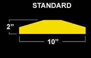 End View: Standard Plastic Speed Bump