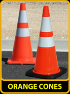 Orange Traffic Cones, 28in & 36in Cones, 3S-700 & 3S-702