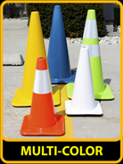 Multi-Color Traffic Cones, 18in & 28in Cones, 3S-700