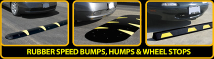Rubber Speed Bumps, Humps & Wheel Stops