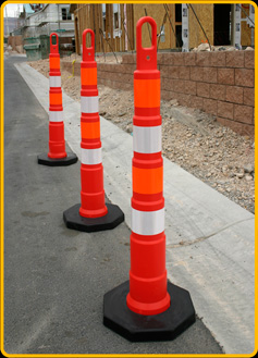 "Orange Ring-Top 42"" Stacker Cones"