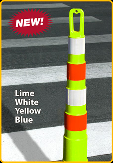"Lime Ring-Top 42"" Stacker Cones"