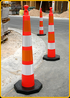 "Orange Grab-Top 42"" Stacker Cones"
